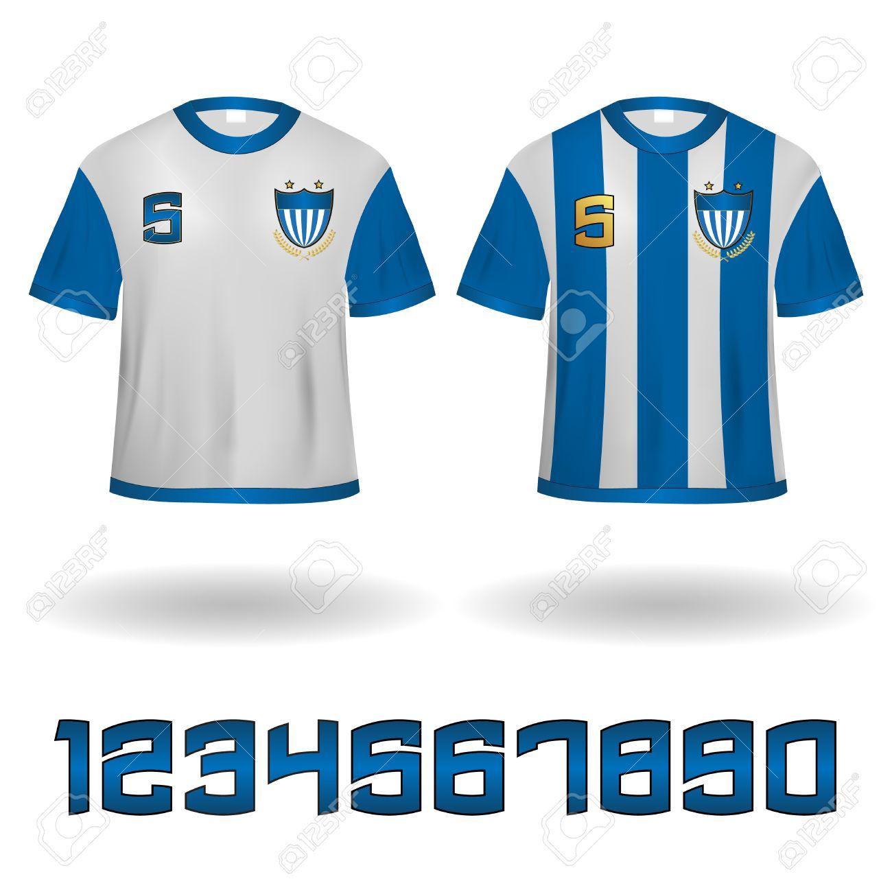 maillots sport veector clip art avec des nombres fix s clip art rh fr 123rf com clipart maillot de foot gratuit