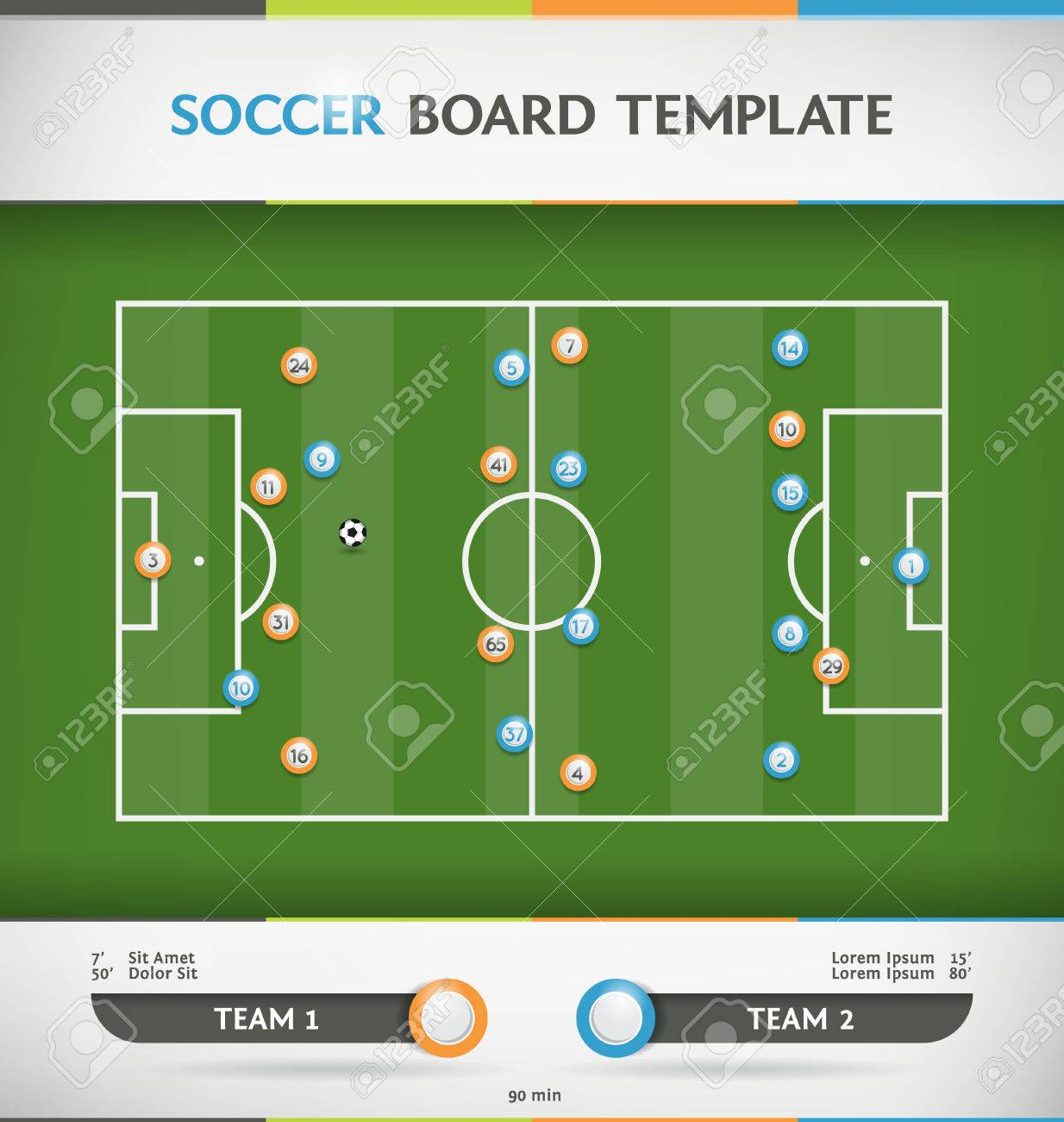 Soccer football tactic board infographic template royalty free soccer football tactic board infographic template stock vector 32374181 pronofoot35fo Choice Image