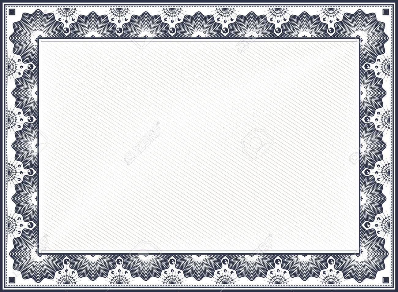 Diploma or certificate blank vintage template royalty free diploma or certificate blank vintage template stock vector 33547711 yadclub Image collections