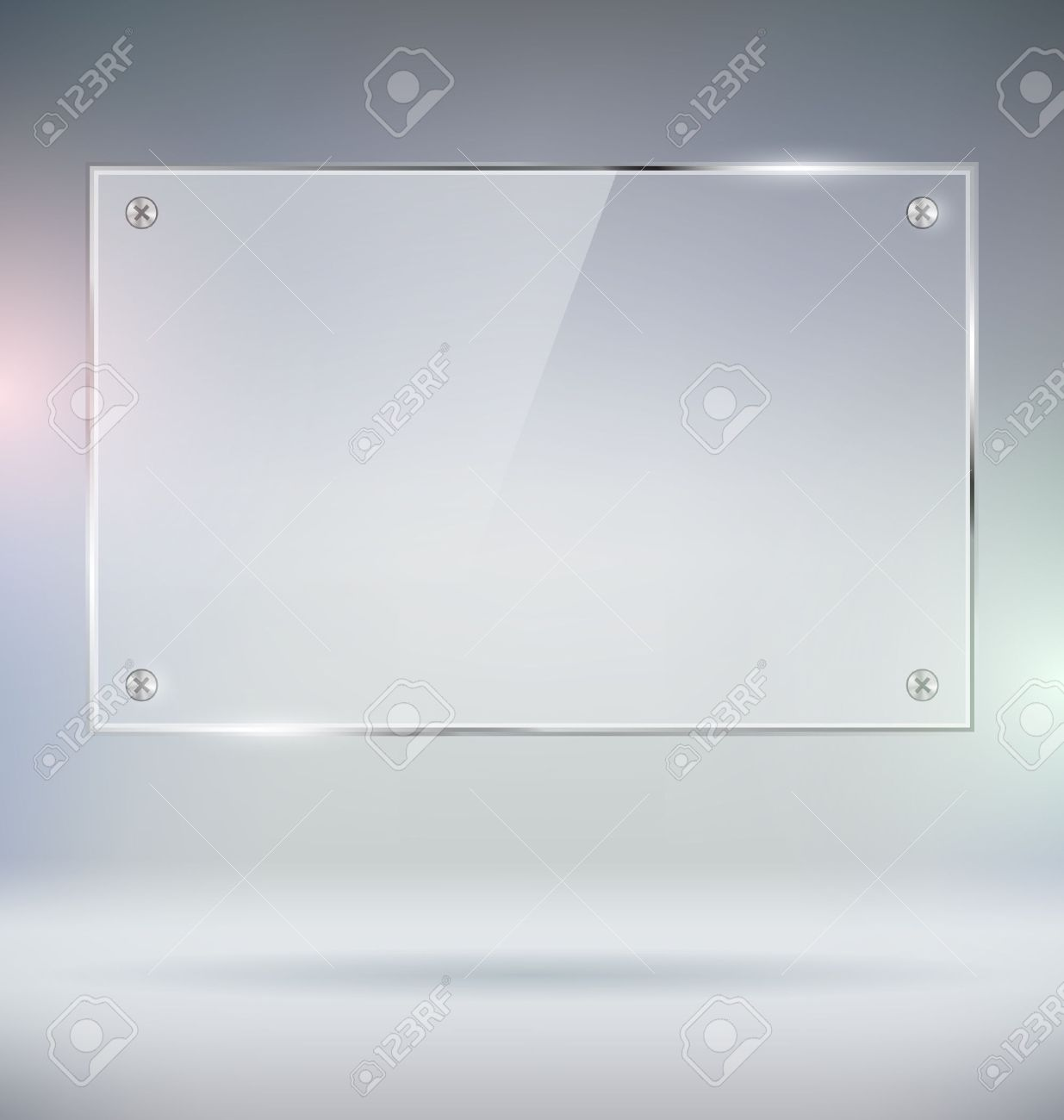 Blank Glass Plate Vector Mock Up - 47223056