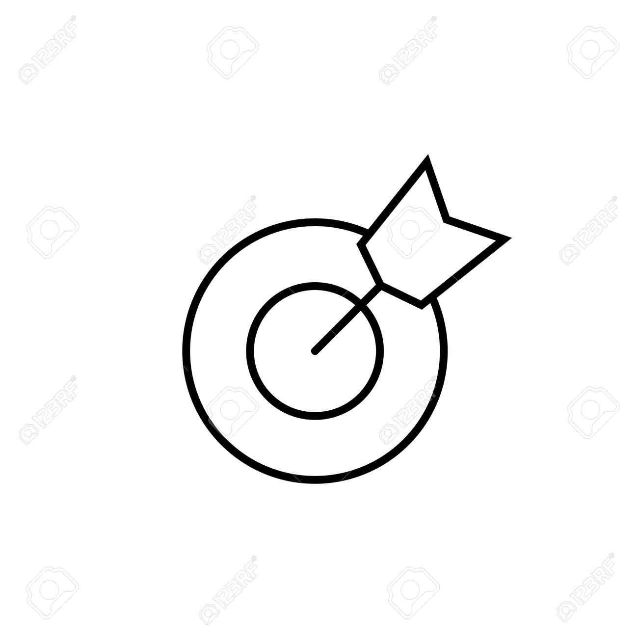 Target icon vector. goal icon vector. target marketing icon vector - 164530637