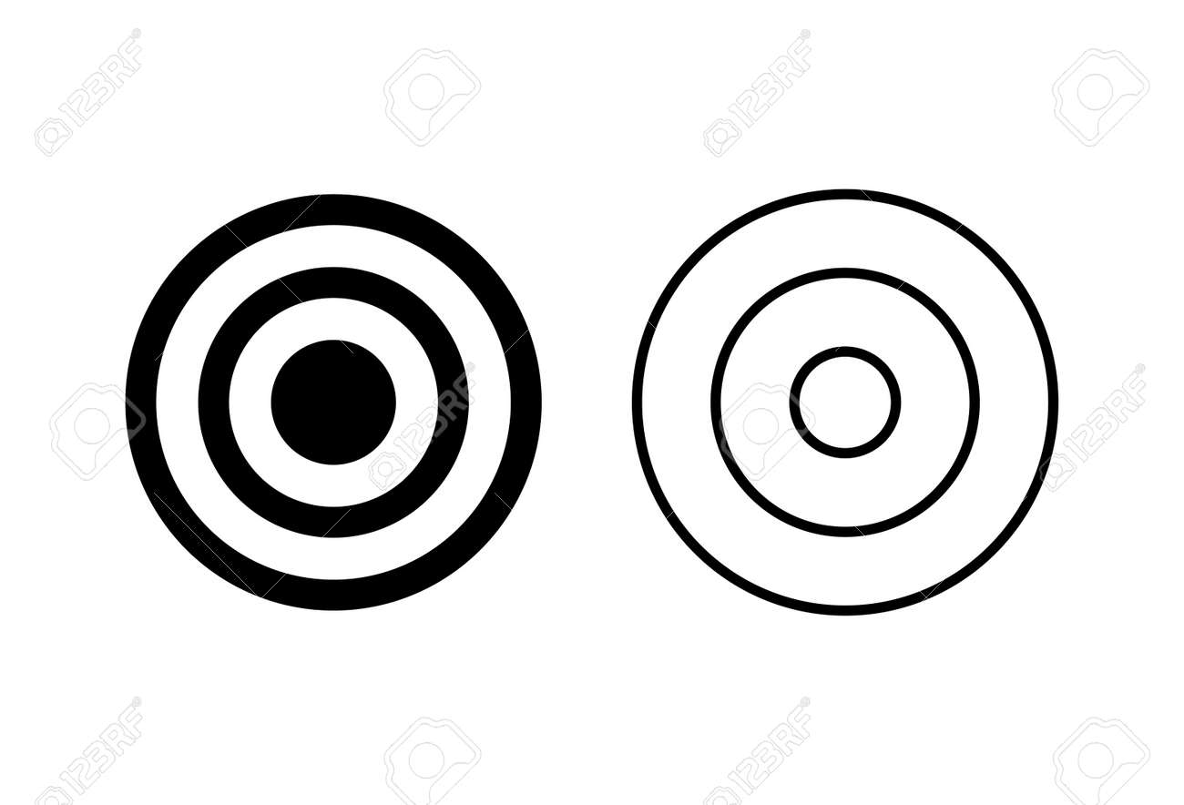 Target icon set. goal icon vector. target marketing icon vector - 164733468