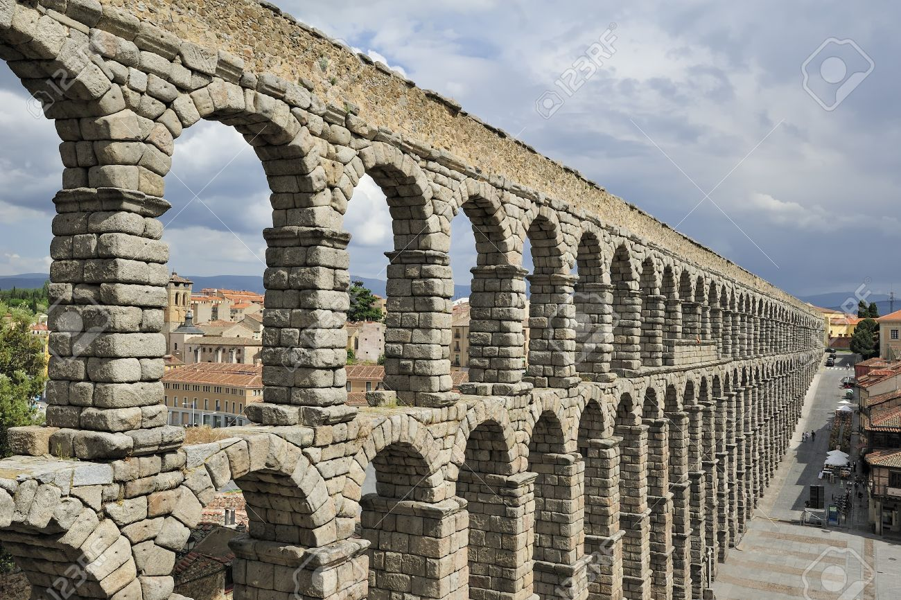 roman aqueduct in segovia spain stock photo picture and royalty