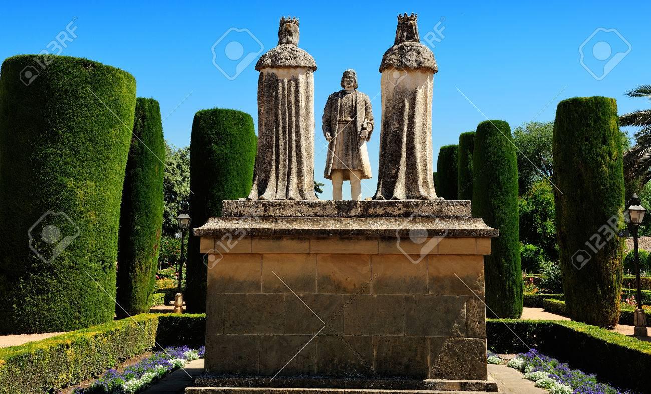 Christopher Columbus And Christian Kings Gardens Of Alcazar