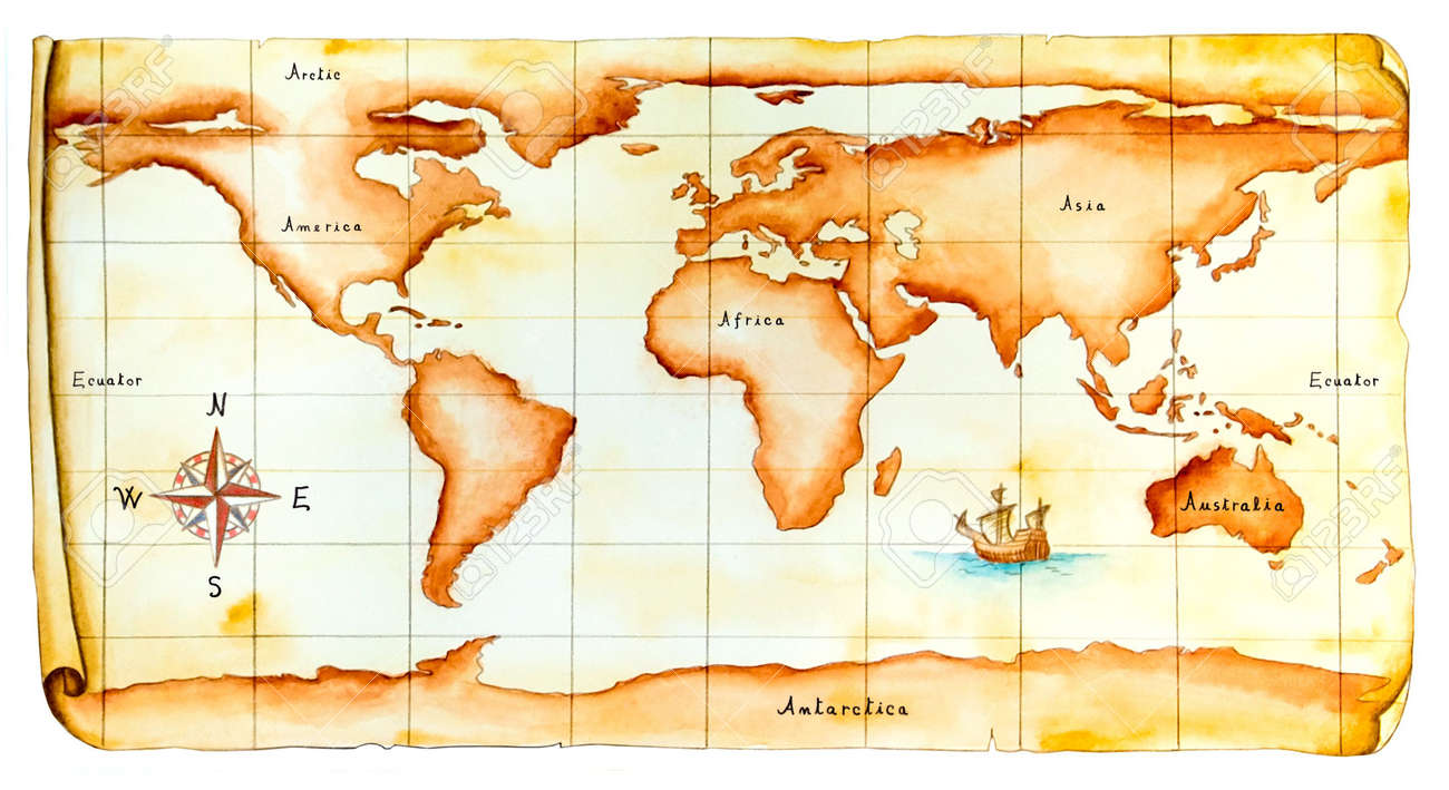 World map antique style original hand painted illustration stock world map antique style original hand painted illustration stock illustration 3276388 gumiabroncs Gallery