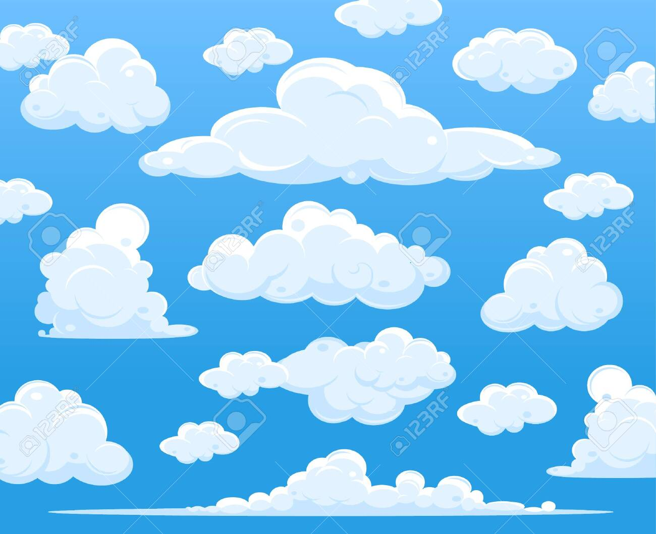 Blue sky with clouds, vector - 148122553