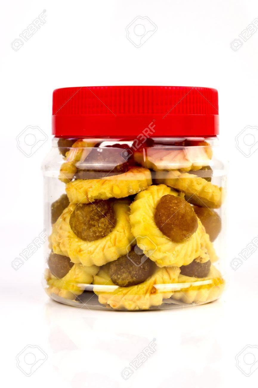 A container of modern pineapple tarts design Standard-Bild - 11875299