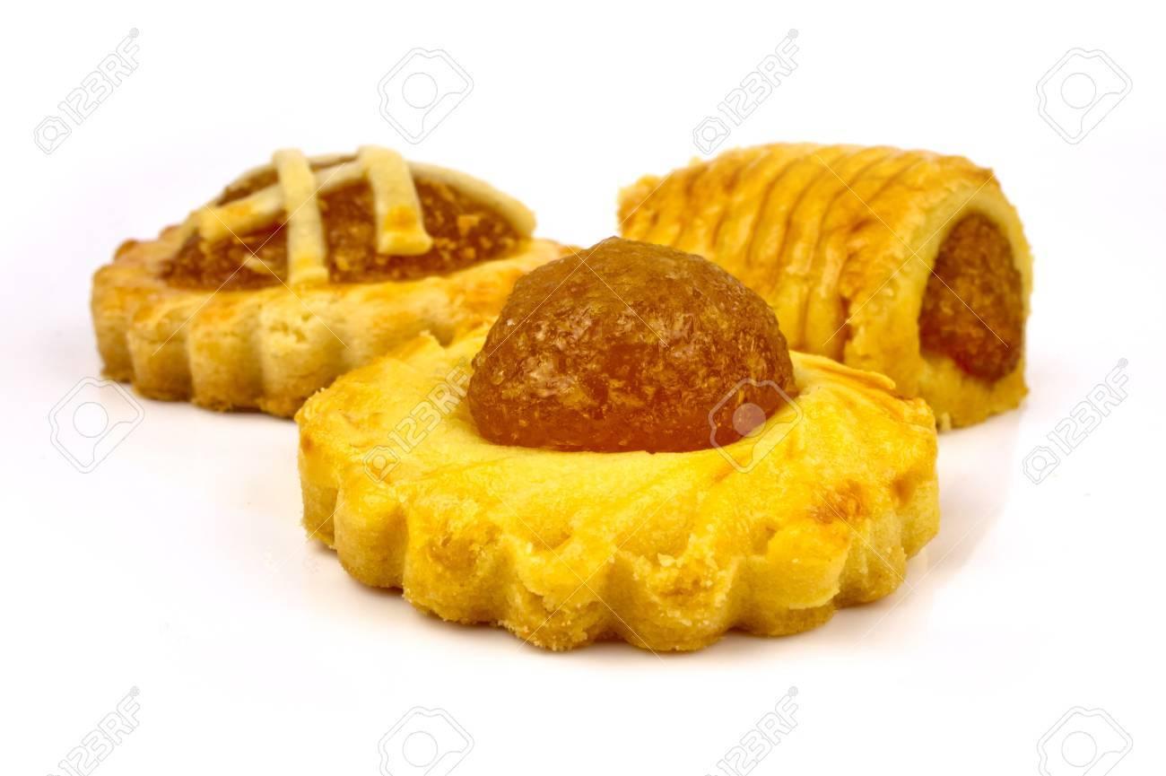 Tradditonal Pineapple tarts with three assorted designs Standard-Bild - 11875384