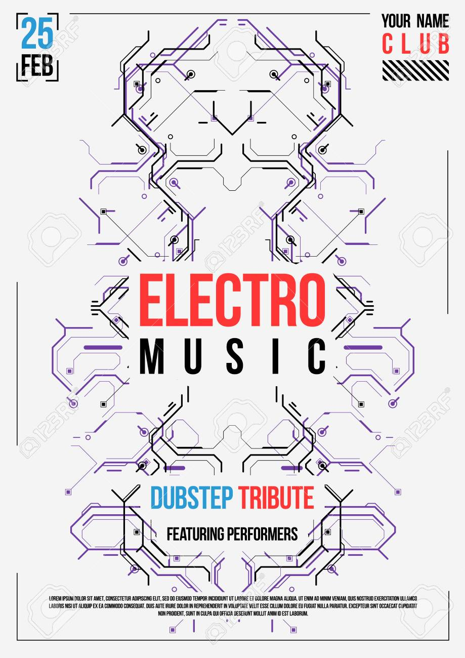 Cyberpunk Futuristic Poster. Retro Futuristic Poster Template ...