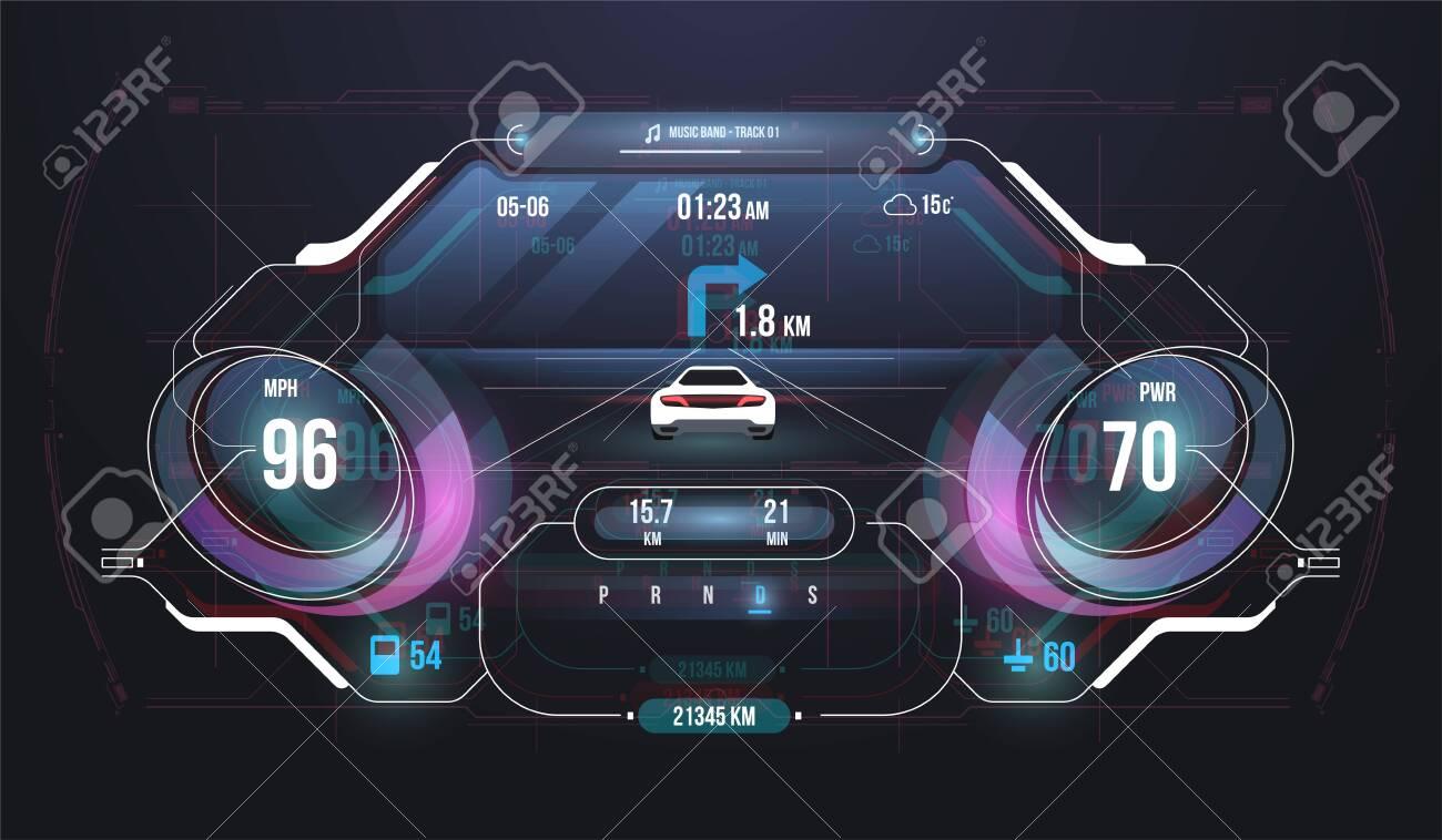 Speed Hud Kilometer Performance Indicators Dashboard Car Instrument Royalty Free Cliparts Vectors And Stock Illustration Image 138549802