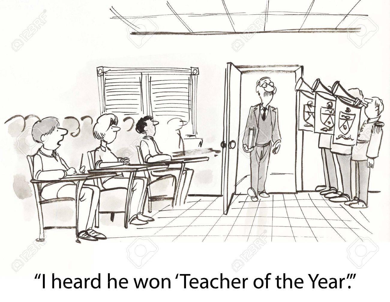 great teacher gets big intro Stock Photo - 16873606