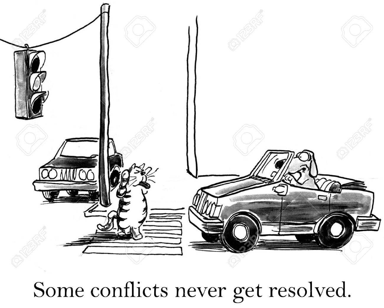 Some conflicts never get resolved between cat and dog. Stock Photo - 16859971