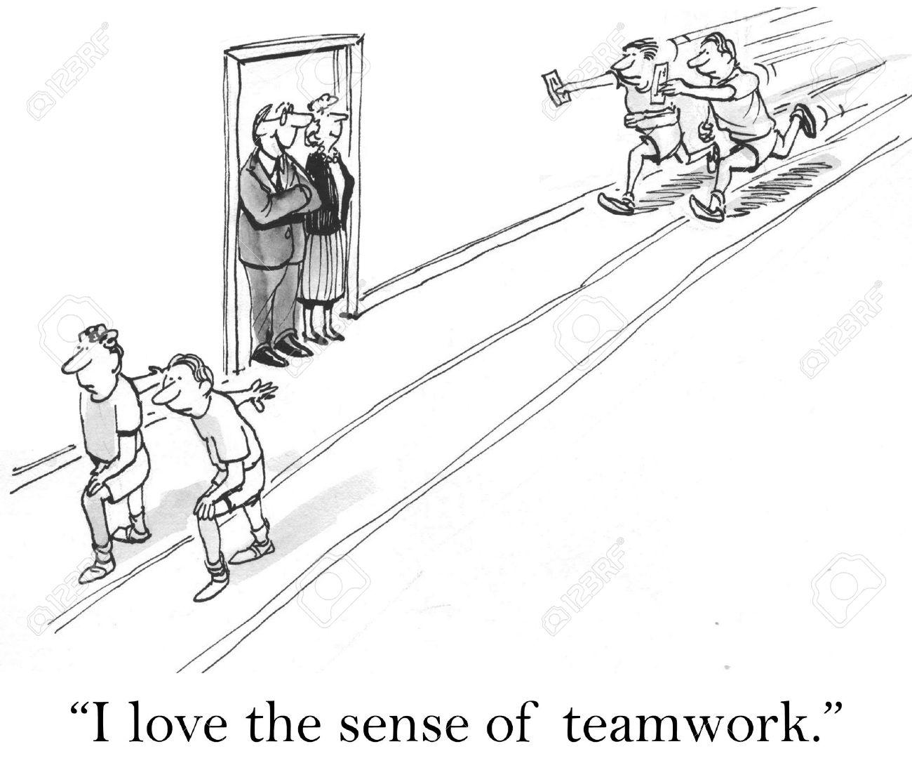 I love the sense of teamwork. in relay Stock Photo - 16924812