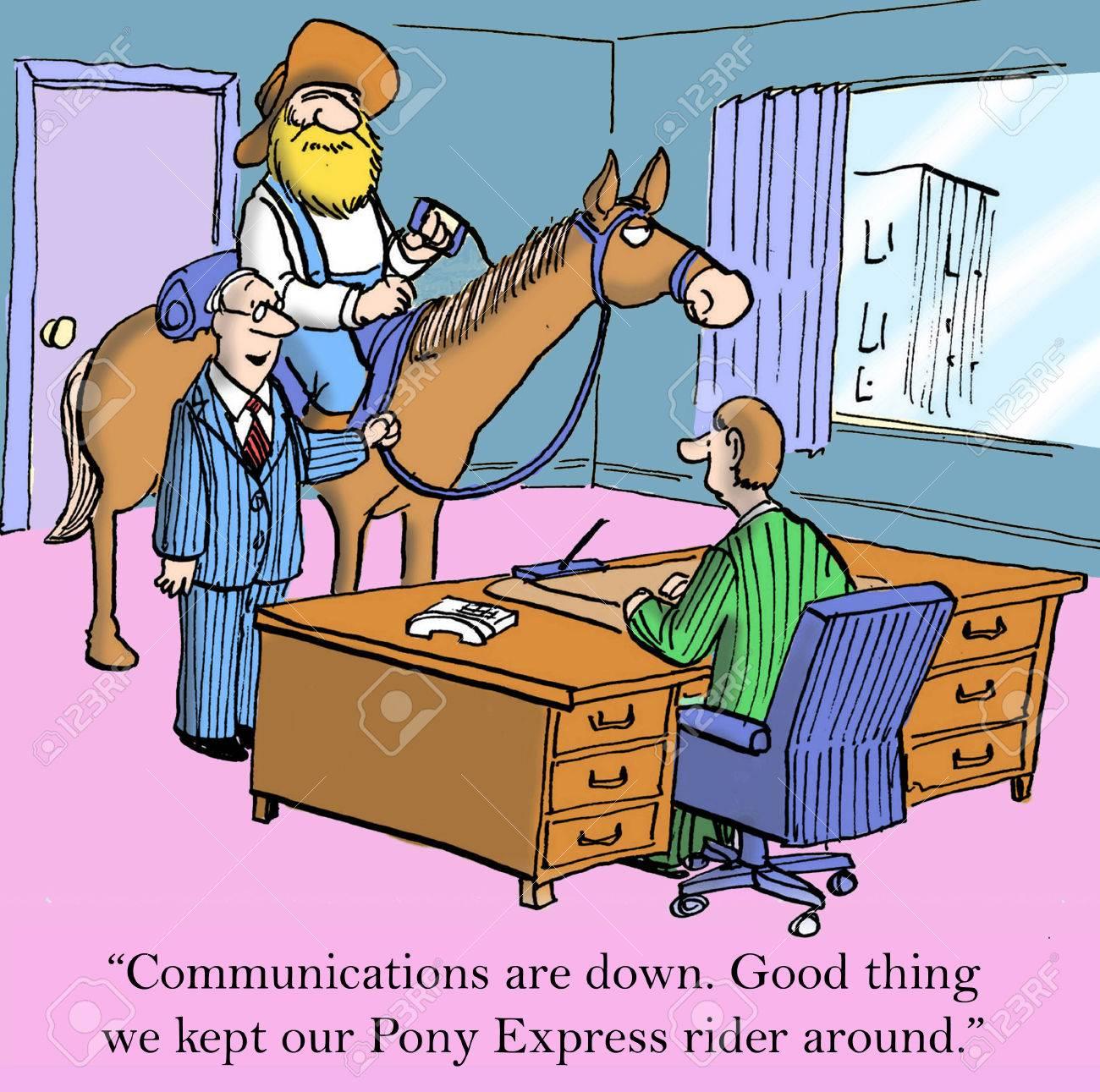 C Est Une Bonne Chose Que Nous Garde Notre Coureur Pony Express Autour Banque D Images Et Photos Libres De Droits Image 24082527