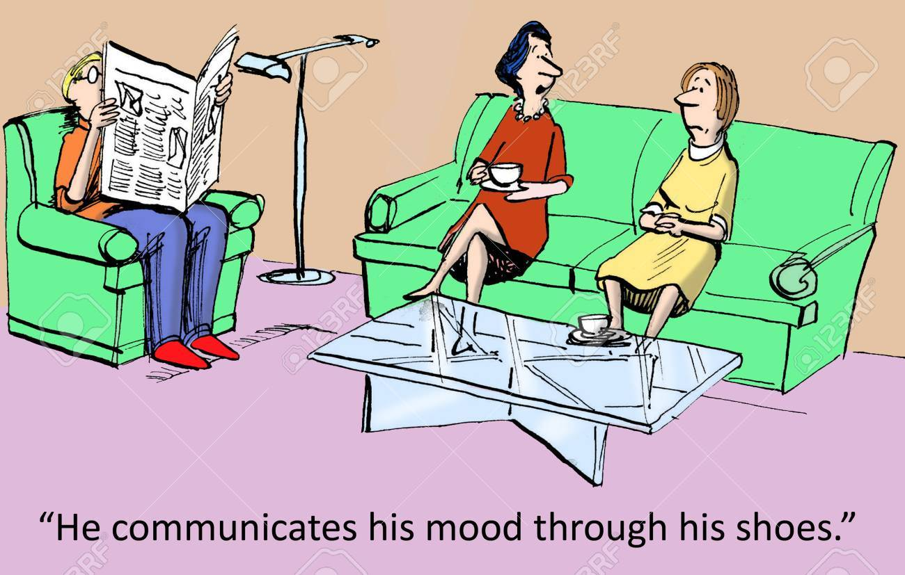 He communicates his mood through his shoes Stock Photo - 24143177