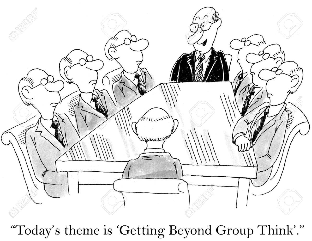 Cartoon of business meeting, everyone looks identical, today is \\\\\\\\\\\\\\\\ - 36657666