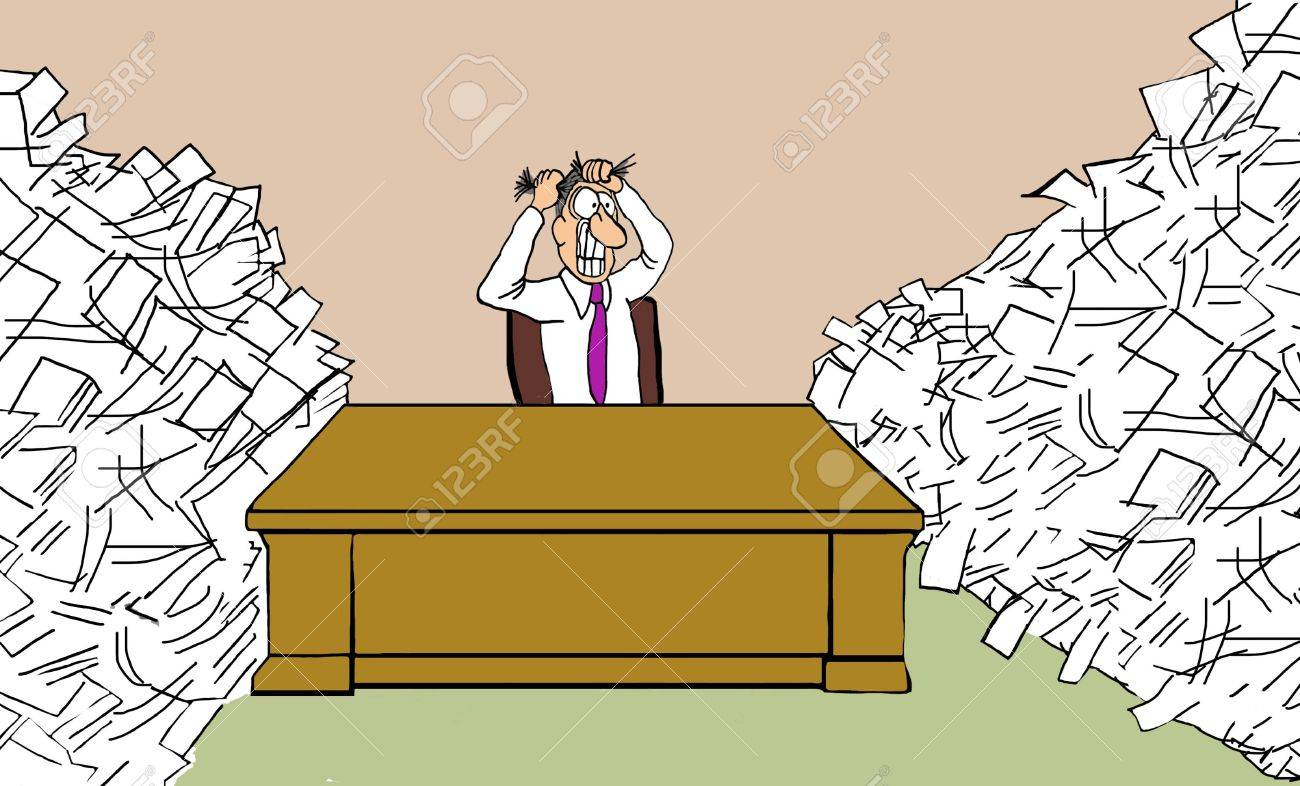 Overloaded with Paperwork - 51004398