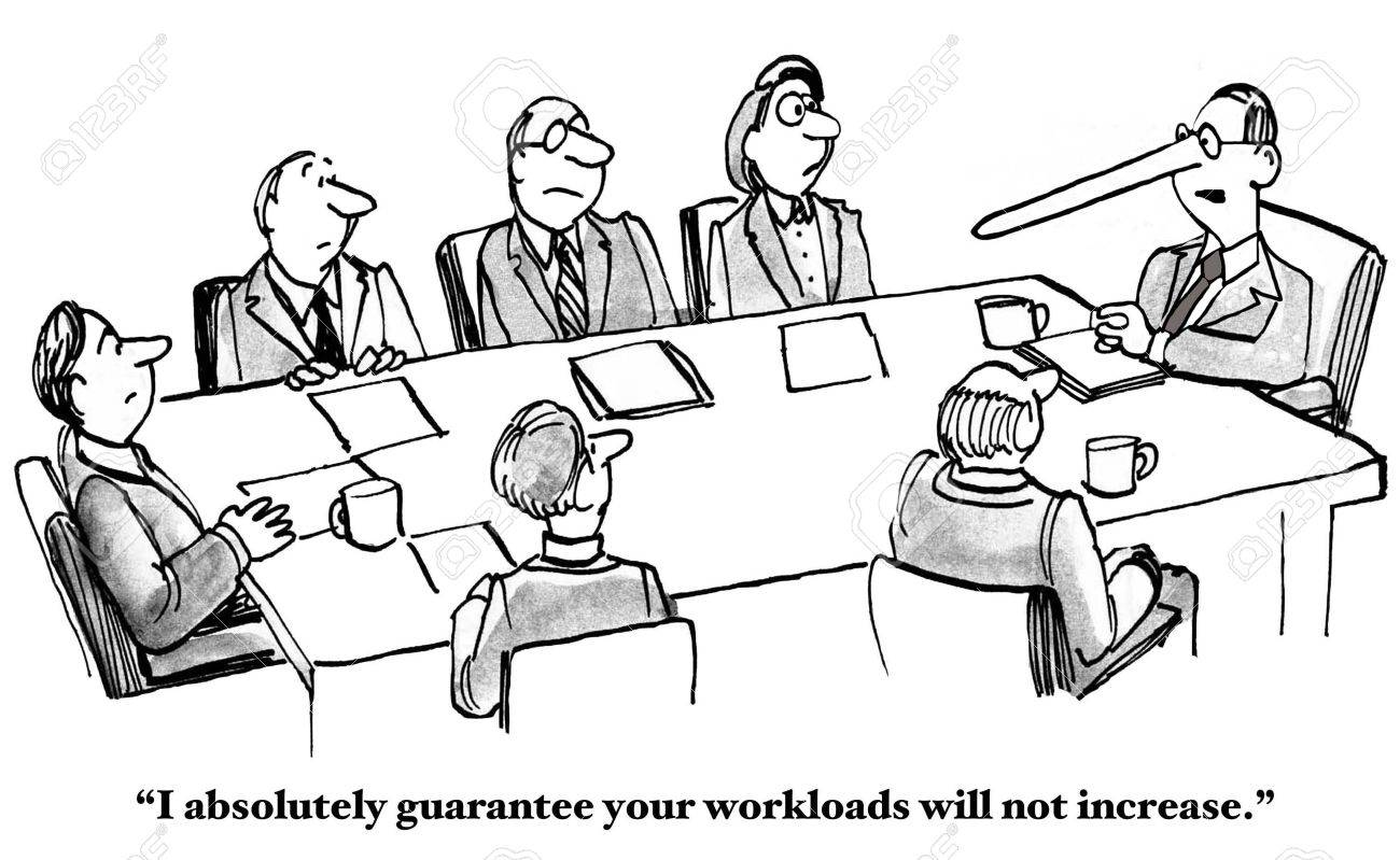 Boss Cannot Keep Workload Promise - 53542105