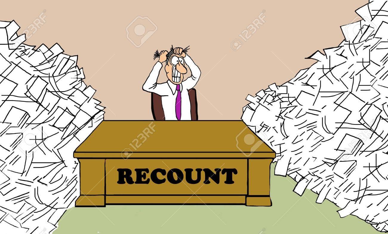 Caricatura Política Que Muestra El Hombre Responsable Del Recuento ...
