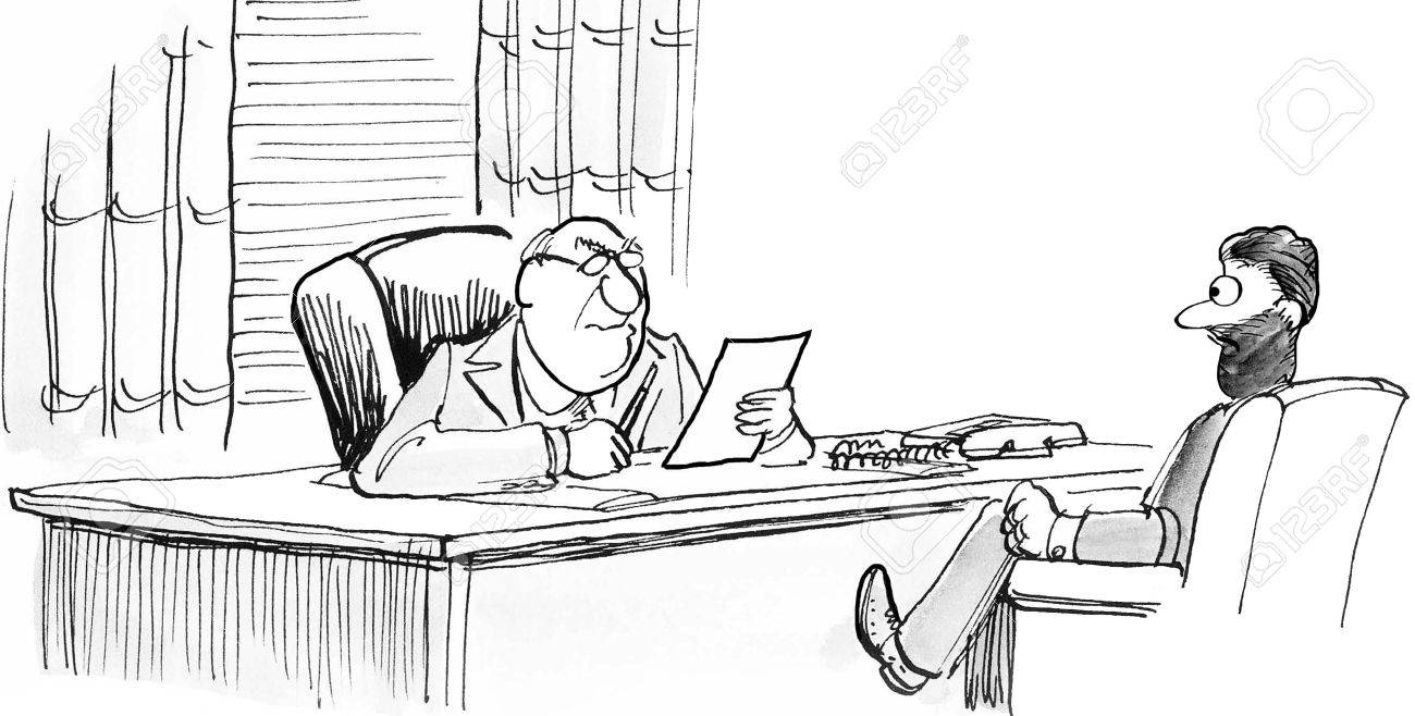 Ilustración De Dibujos Animados De Negocios Que Muestra Dos ...