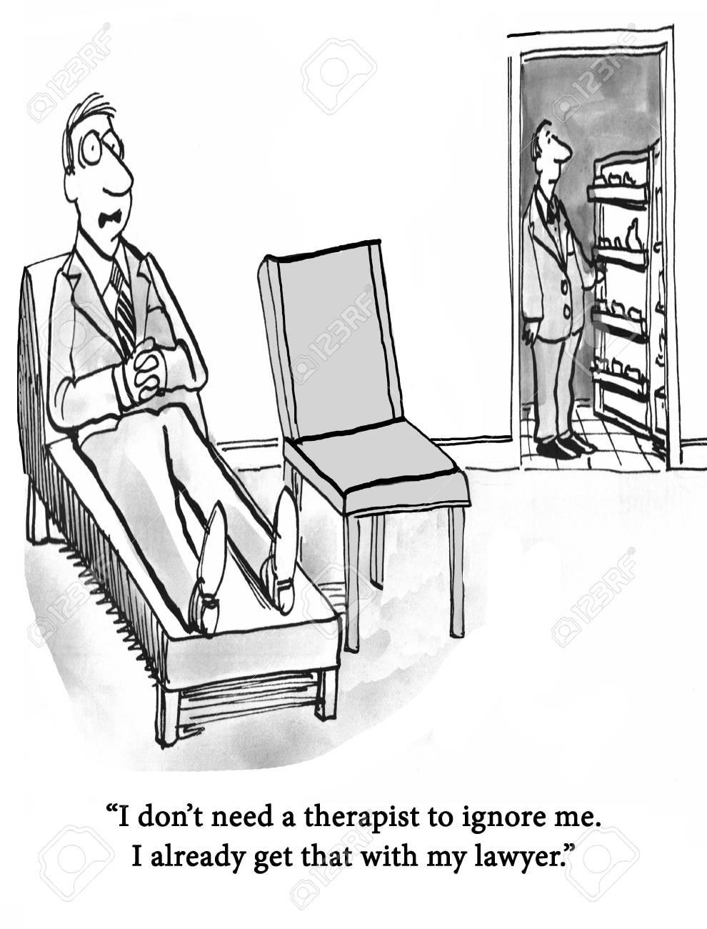 A patient complains about the therapist ignoring him