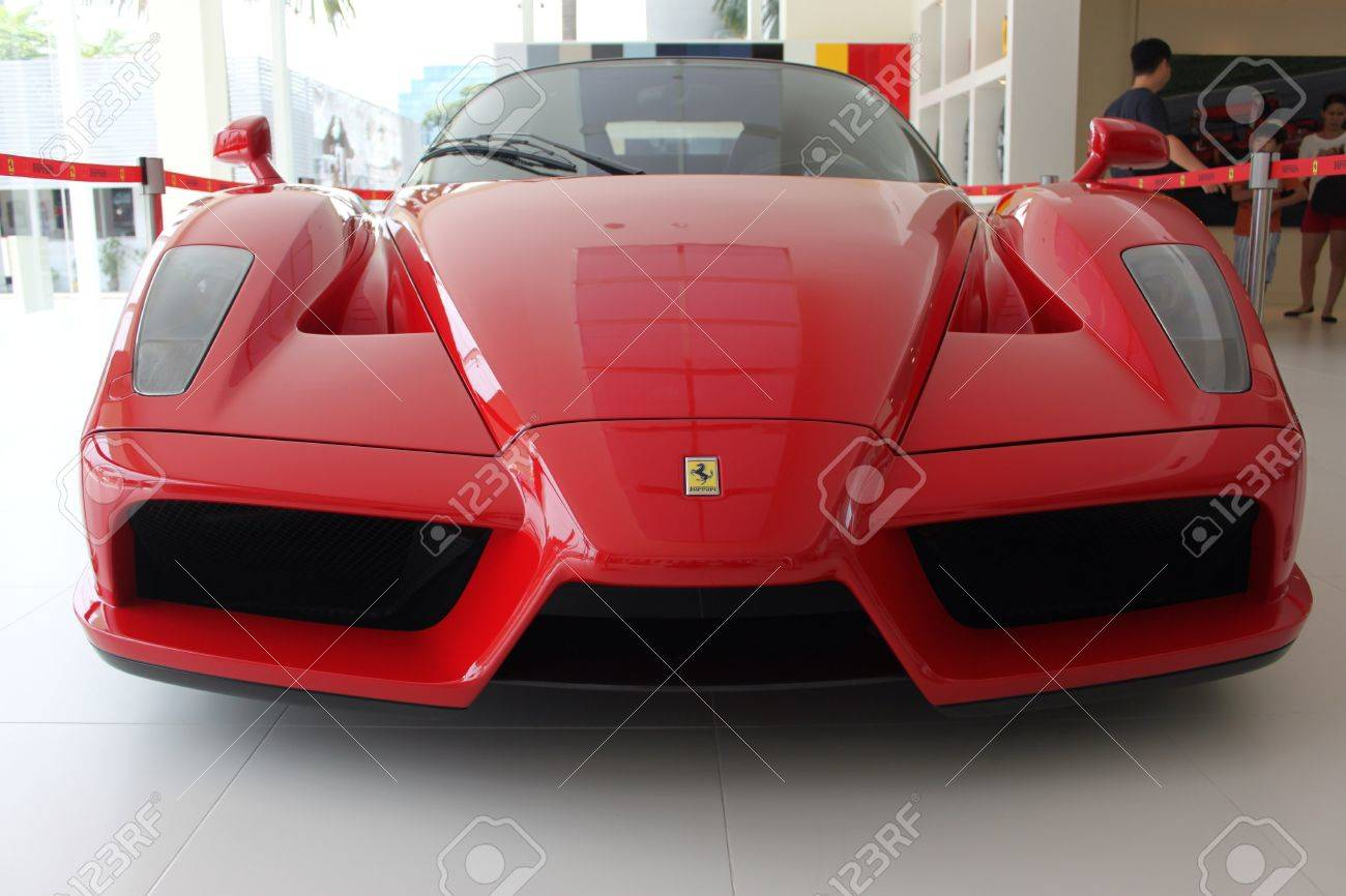 Front View Of Ferrari Enzo Sport Car In Naza Italia Stock Photo   24725153