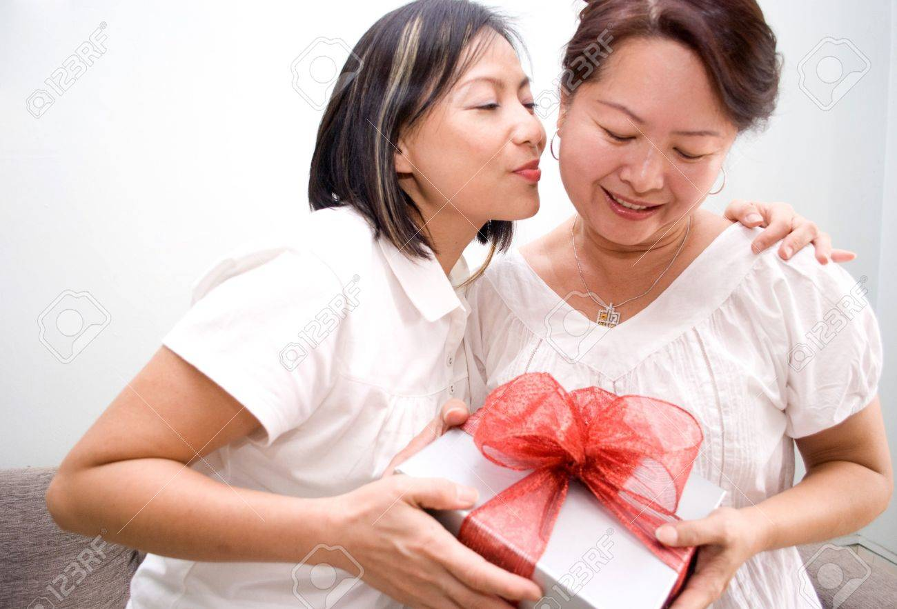 gift box ribbon for mother Stock Photo - 4426789