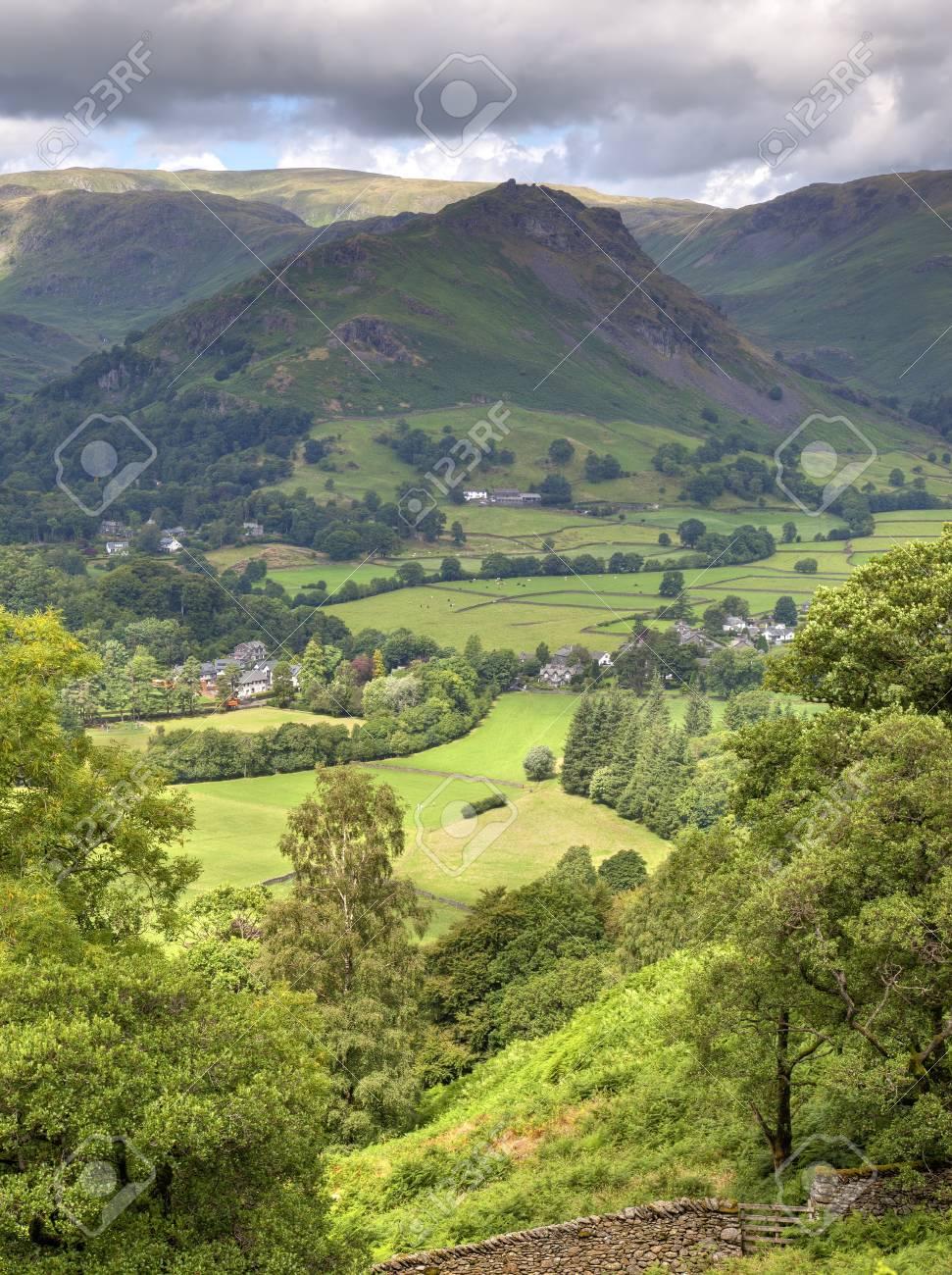 Aerial view of Grasmere, Cumbria, England Stock Photo - 24516476