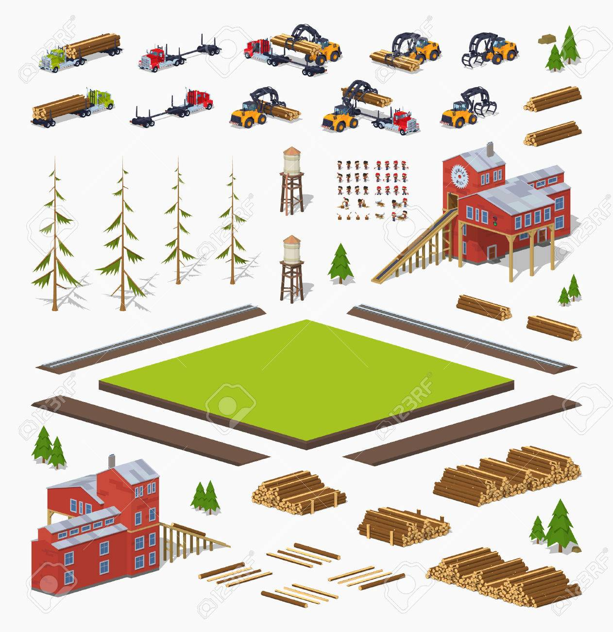 Lumber mill construction set. Build your own design - 53249528