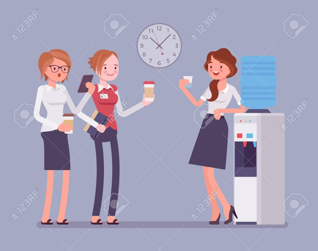 Office cooler chat - 94911402