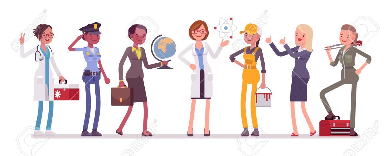 Women professions set. - 96319273