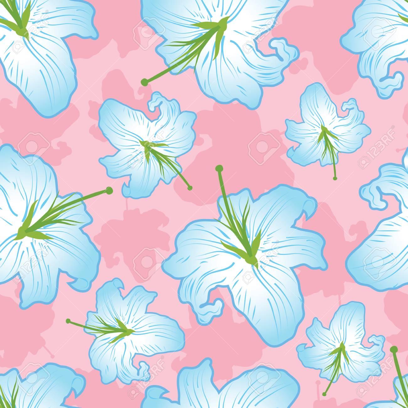 Gentle flower seamless Stock Vector - 3334560