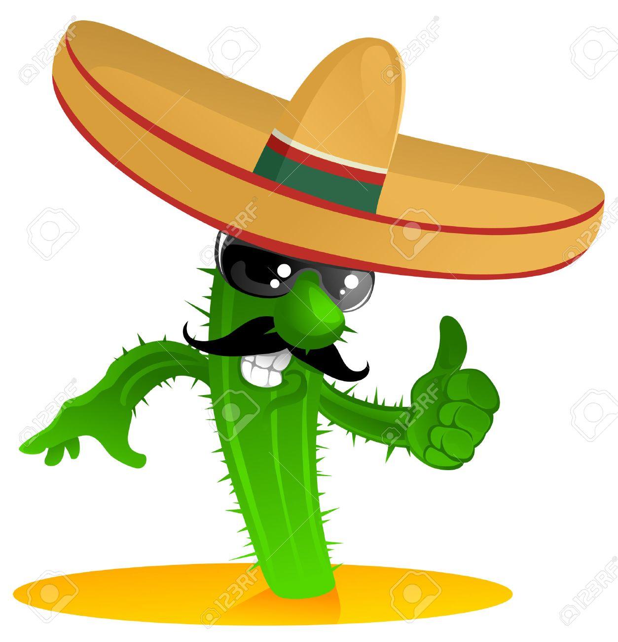 cool mexican cactus Stock Vector - 7466837