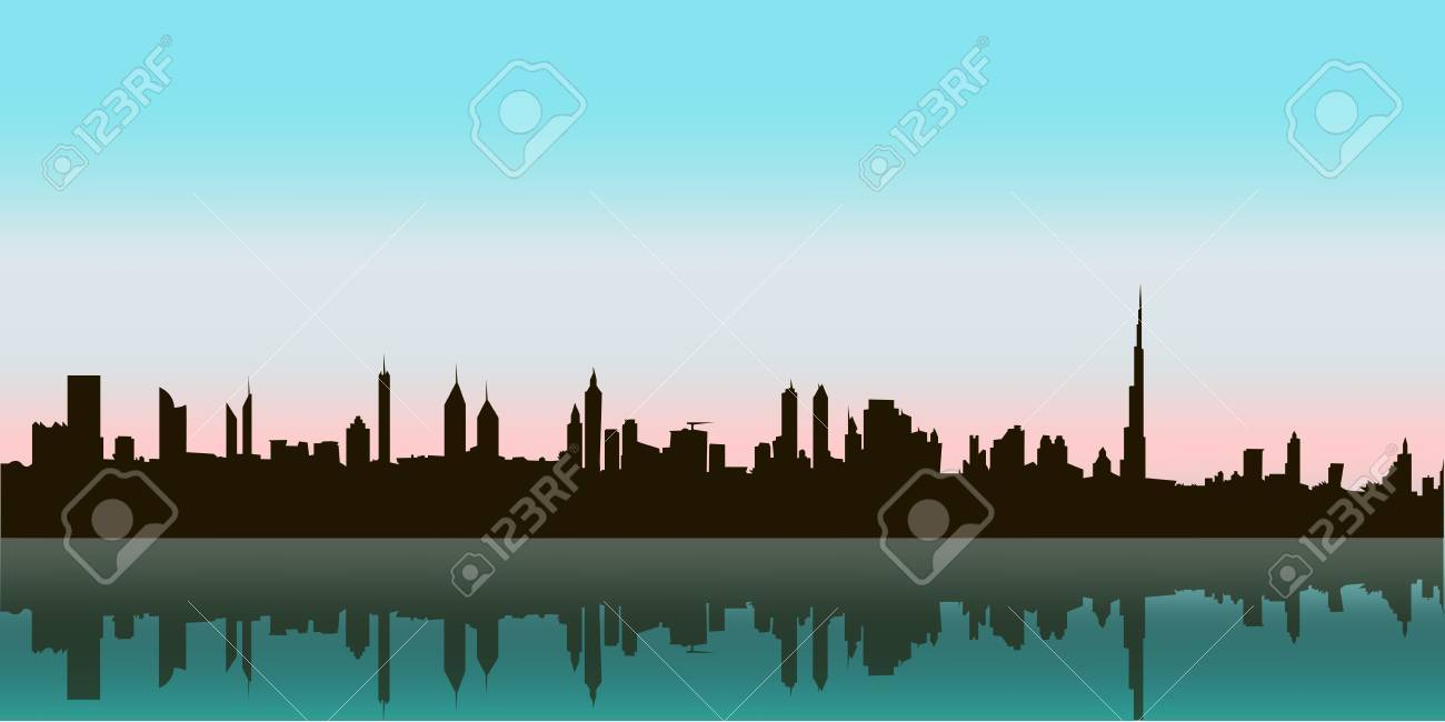 Outline athens skyline with blue buildings and copy space stock vector - Athens Skyline Dubai Vector Skyline Illustration