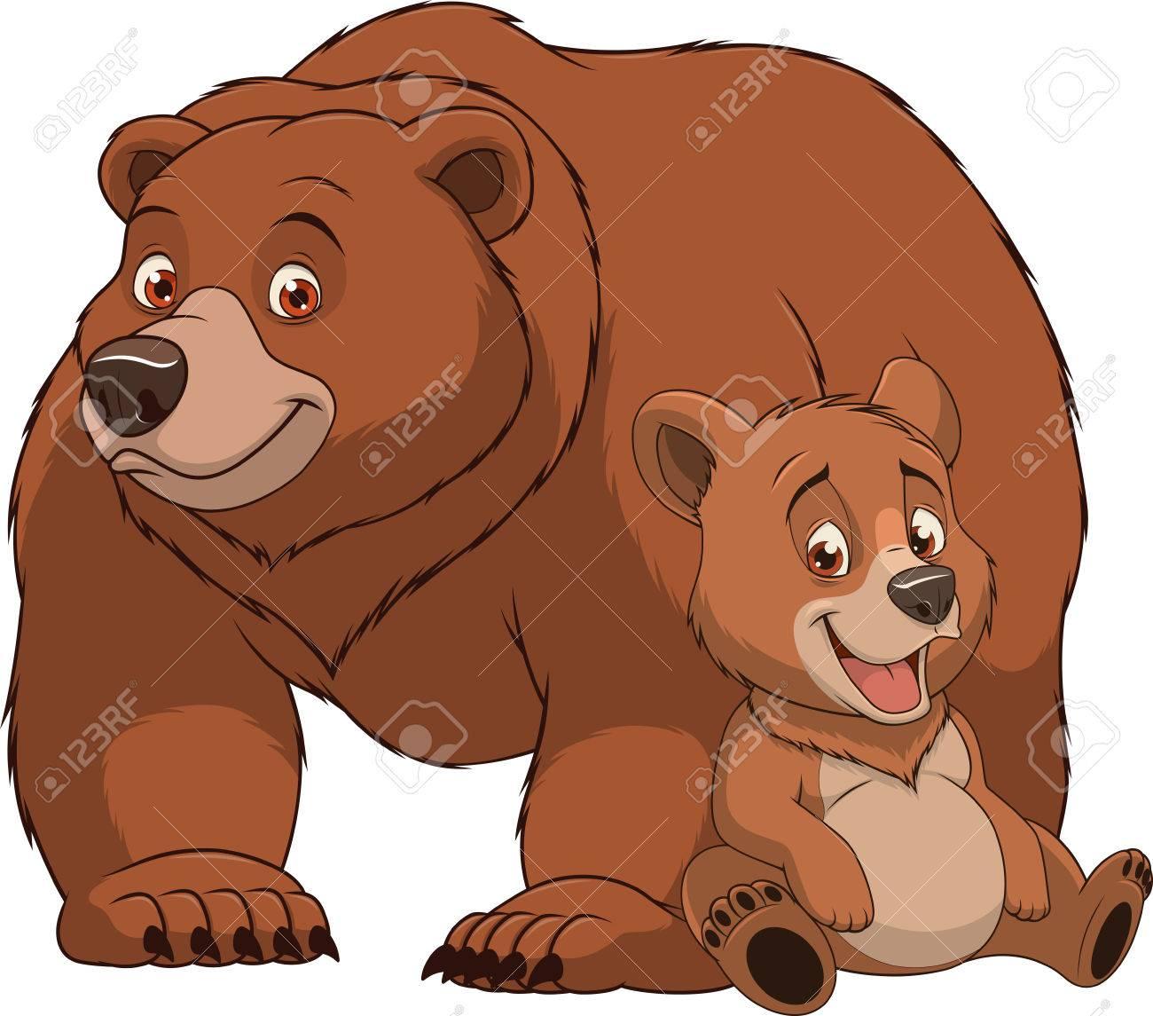 イラスト面白いエキゾチックな動物クマ家族 ロイヤリティフリークリップ