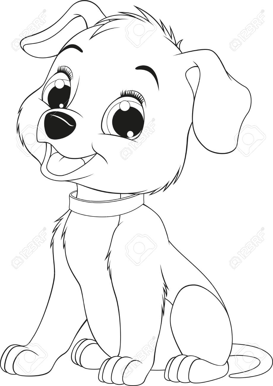 Perfecto Perro Caniche Para Colorear Viñeta - Dibujos Para Colorear ...