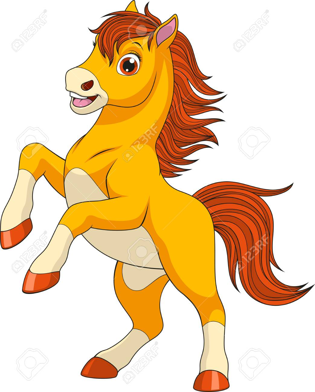 Vector Illustration Funny Baby Foal On A White Background Royalty Free Cliparts Vectors And Stock Illustration Image 90583634