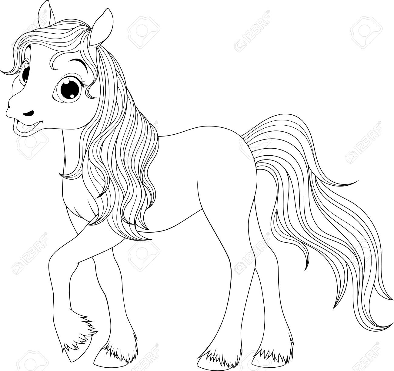 Vector Illustration Funny Baby Foal On A White Background Royalty Free Cliparts Vectors And Stock Illustration Image 99559711