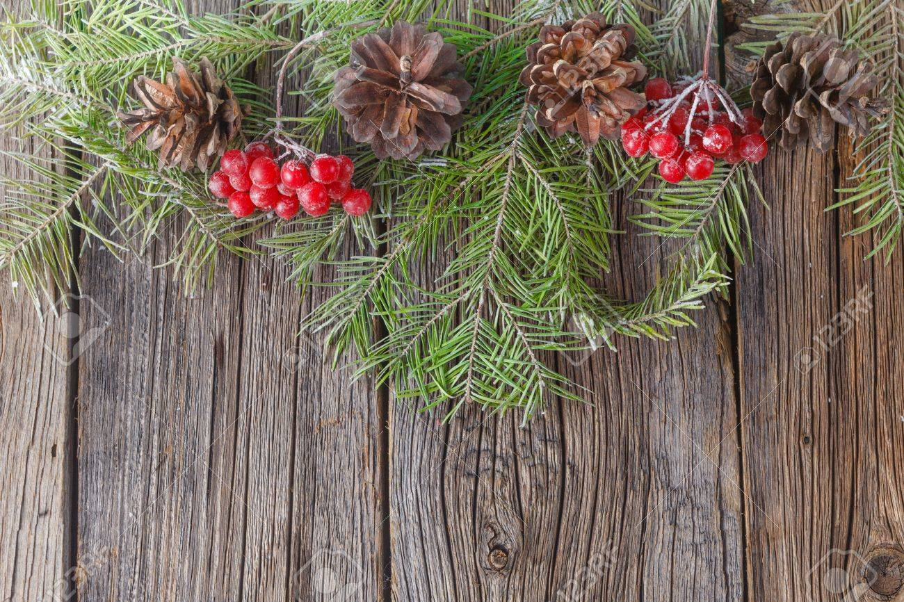 Winter Theme Banner For Place You Text On Rustic Background Stock