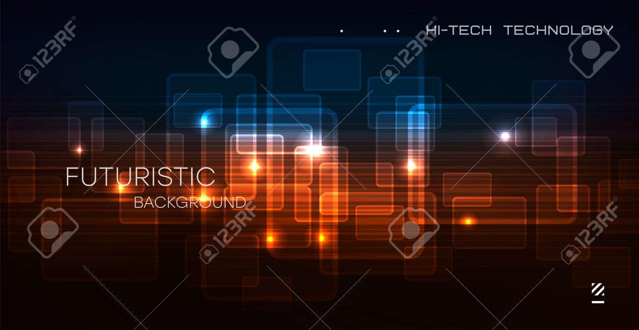 Abstract circuit board technology. Technological design. High tech digital technology concept.Vector - 166935962