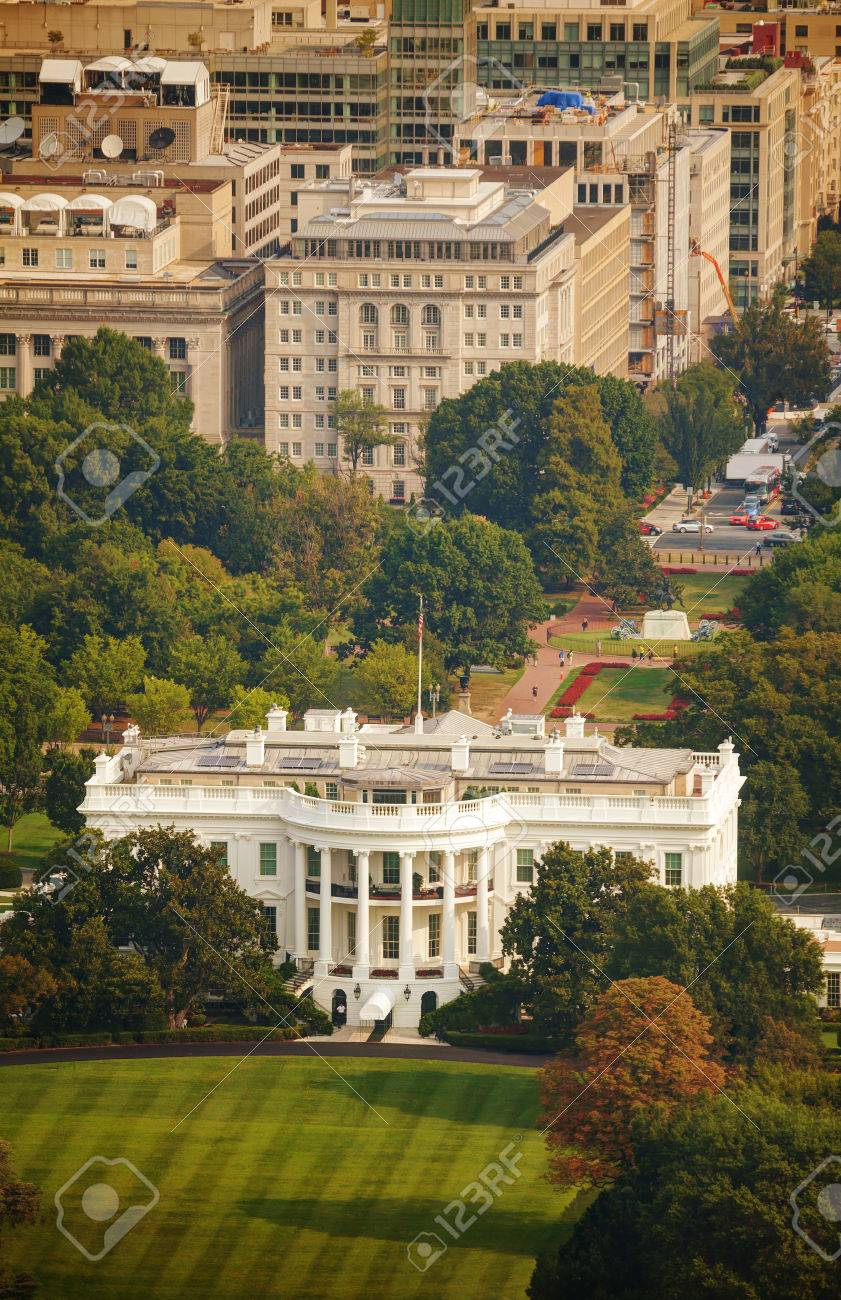 Strange The White House Aerial View In Washington Dc Usa Download Free Architecture Designs Scobabritishbridgeorg