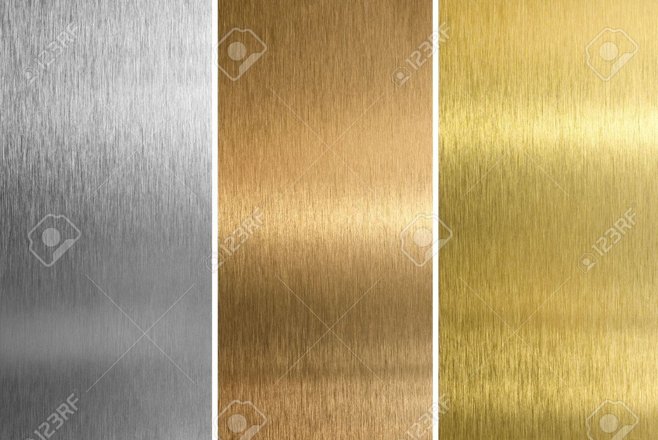 Aluminum, bronze and brass stitched textures Stock Photo - 7339671
