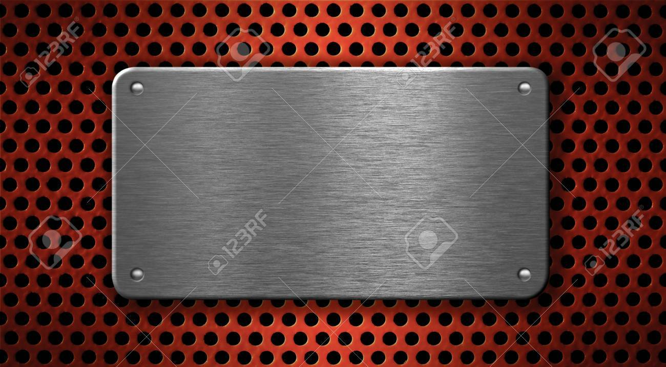 metal plate industrial background Stock Photo - 7880387