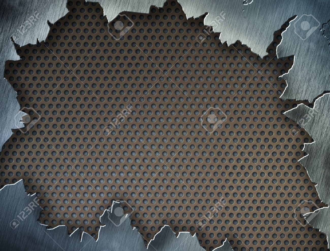 Cracked metal texture or frame or template for your design Stock Photo - 7880402