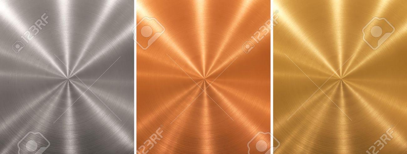 Aluminum brass bronze stitched metal plates cone gradient Stock Photo - 8523998