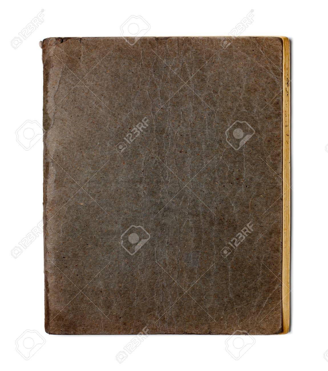 old closed copybook isolated on white Stock Photo - 11057404