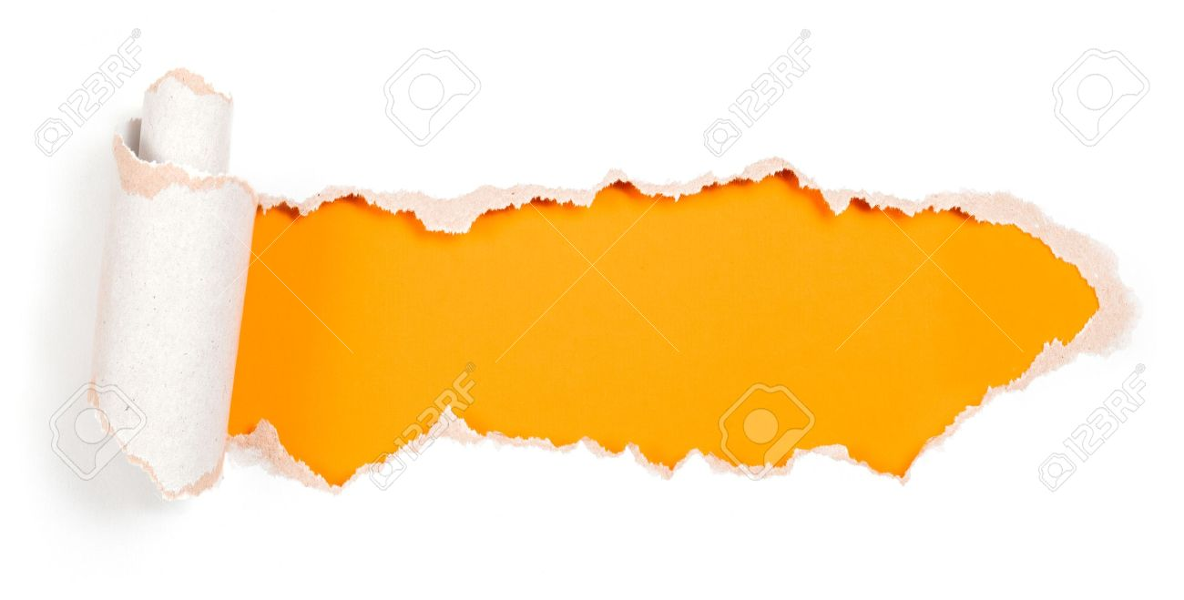 Paper Hole With Torn Edges Design Template Stock Photo, Picture ...
