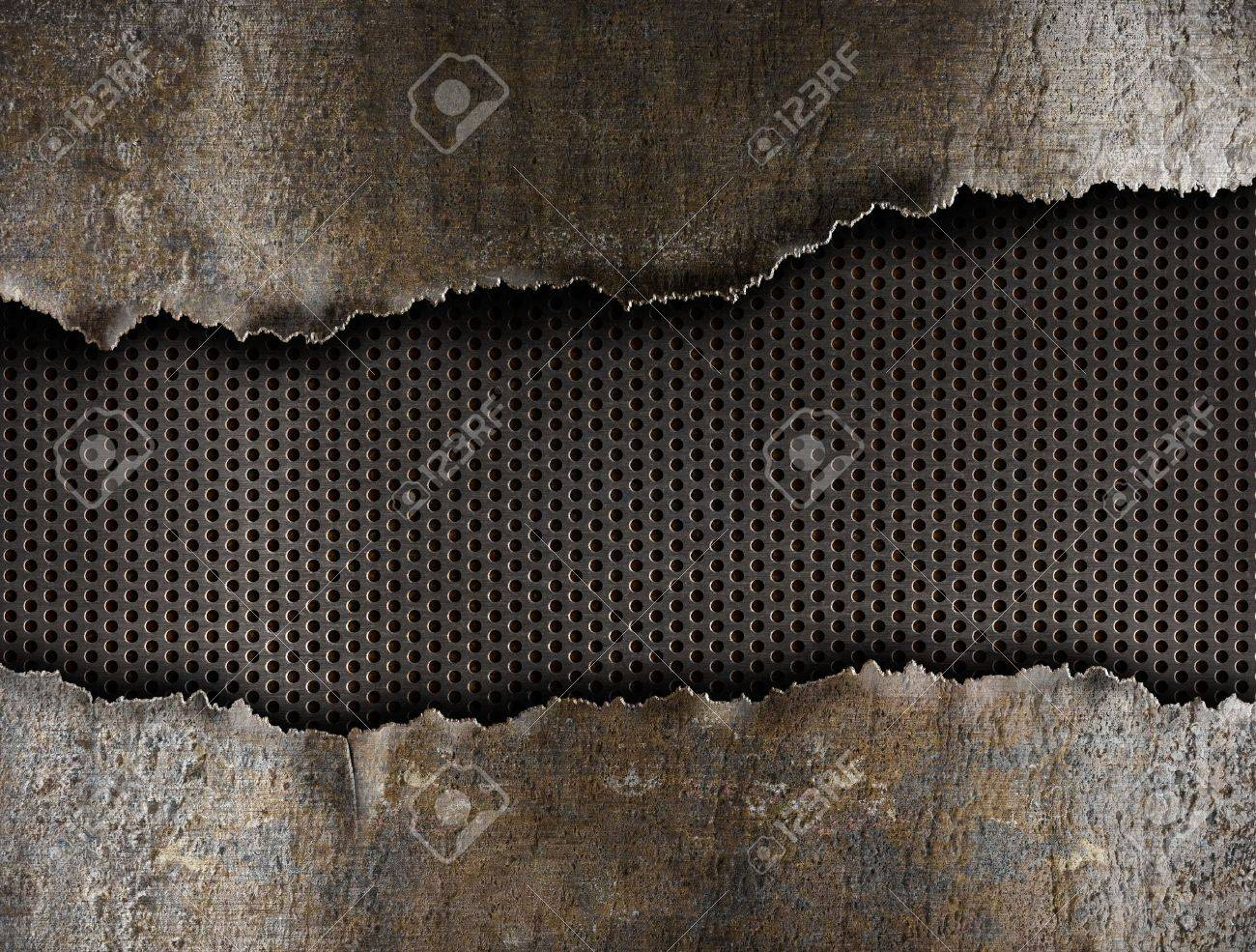 metal ripped hole background Stock Photo - 13814380