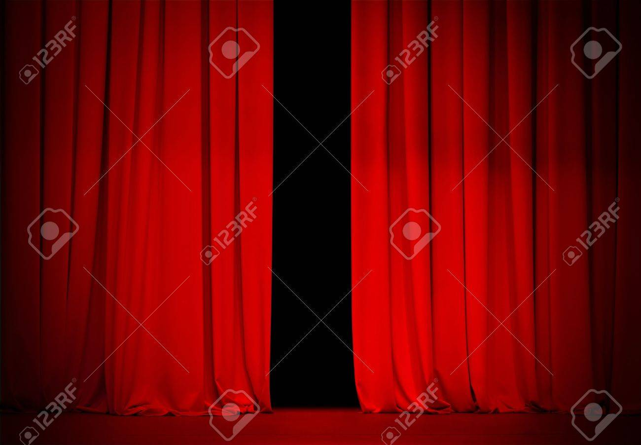 Open theater drapes or stage curtains royalty free stock image image - Red Curtain On Theatre Or Cinema Stage Slightly Open Stock Photo 16543076