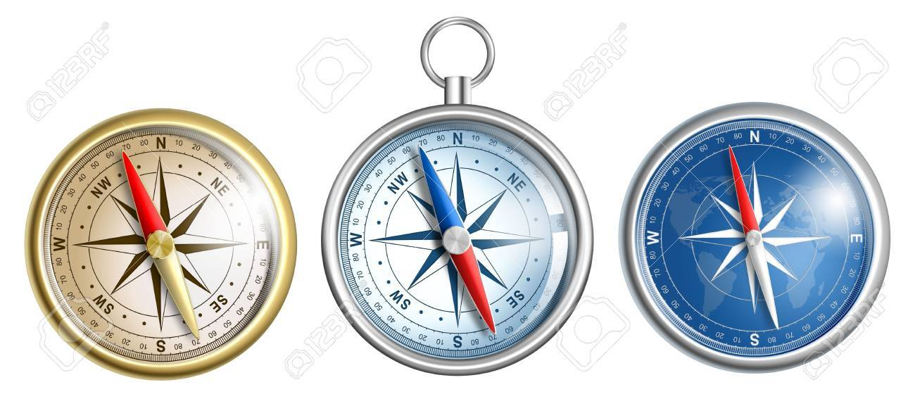 compass illustrations set isolated on white Stock Photo - 17419444